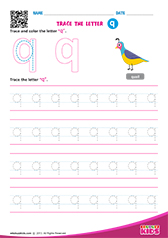 Write lowercase letter q